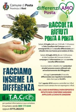 Incontro Con TAC Ecologica. Distribuzione secchi, giornata informativa